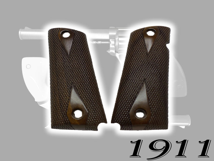 Full size 1911- Government- Commander Walnut Wood Grips- PICK YOUR STYLE