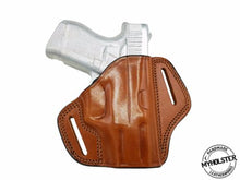 KAHR CW9 Right Hand Open Top Leather Belt Holster - PICK YOUR COLOR