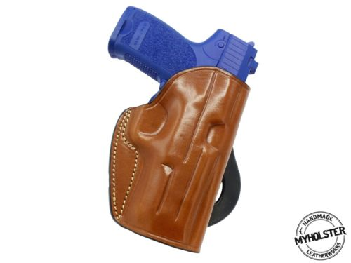 Golan 9mm Leather Quick Draw RH Paddle Holster -Pick Your Color