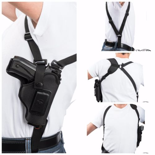 Left Hand Vertical Carry Shoulder Holster for Walther PP, PPK