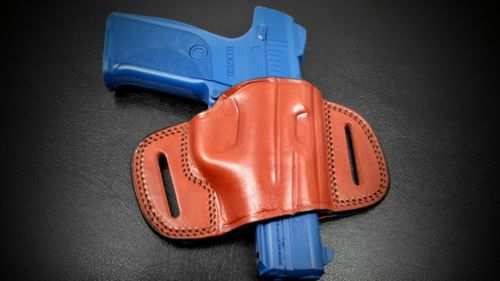 Premium Quality Brown Quick Draw Pancake Belt Holster for S&W M&P 45 4.5