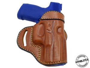 "Springfield EMP 1911 9mm 3"" Compact OWB Open Top Leather CROSS DRAW Holster"