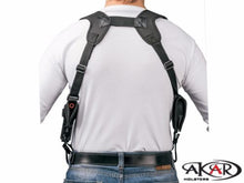 "1911 3"" 4"" 5"" Nylon Horizontal Shoulder Holster with Double Mag Pouch RH"