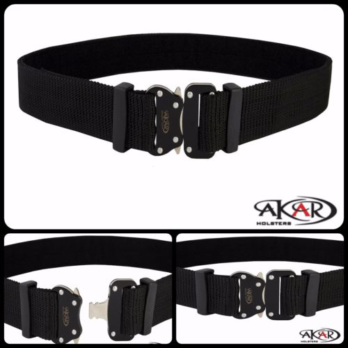 Akar's Dragon Tactical Heavy Duty Nylon Cobra Buckle Gun Pistol EDC Belt 1.75