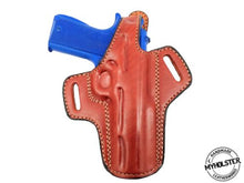 Colt 1911 Commander OWB Thumb Break Leather Belt Holster - Pick your Hand & Color
