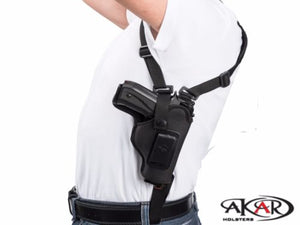 Left Hand Vertical Carry Shoulder Holster for Smith & Wesson SHIELD 9, 40