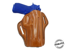 "H&K HK 45 5"" Open Top Right Hand Leather Belt Holster - Pick your color"