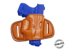 Load image into Gallery viewer, QUICK DRAW OWB BELT HOLSTER Brown/Black Leather For Glock 26/27/33
