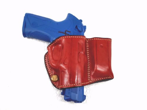 Belt Holster with Mag Pouch Leather Holster for Beretta PX4 Storm Sub, MyHolster