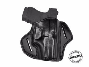 GLOCK 36 Open Top OWB Right Hand Leather Belt Holster