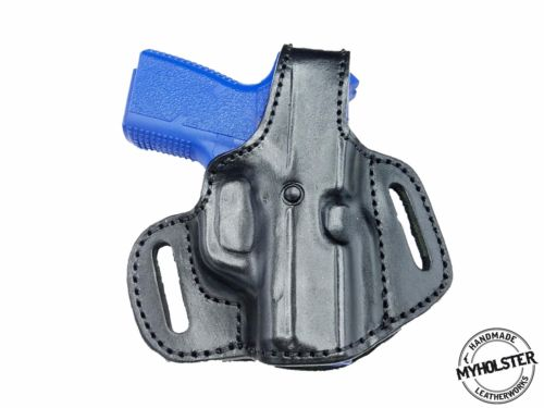 Kahr CM9 OWB Thumb Break Leather Belt Holster, MyHolster