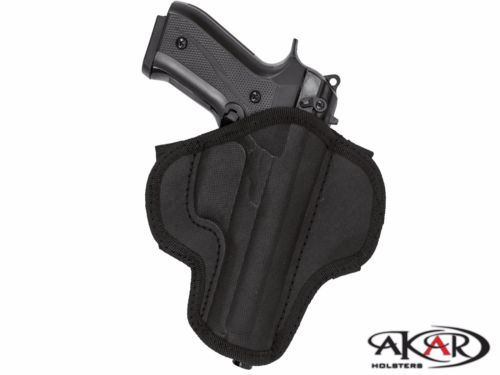 Springfield 1911 Open Top Quick Draw Molded Nylon Belt Slide Holster, Akar