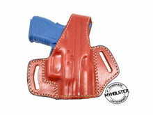 OWB Thumb Break Leather Belt Holster Fits Glock 43 w/ Crimson Trace