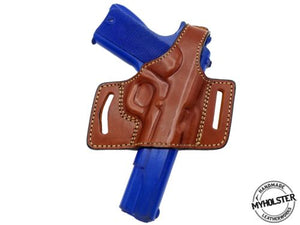 "SPRINGFIELD ARMORY RONIN OPERATOR 4.5"" 9MM 1911 OWB Quick Draw Leather Slide Holster W/Thumb-Break"