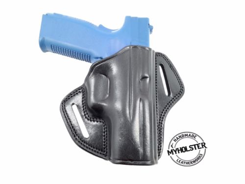 CANIK TP9SFx Open TOP Right hand Leather Belt Holster