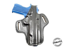 Load image into Gallery viewer, Colt 1911 Commander OWB Thumb Break Leather Belt Holster - Pick your Hand & Color