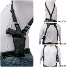 Load image into Gallery viewer, Glock 17/22/31 Vertical Carry Shoulder Holster Checkerboard Pattern