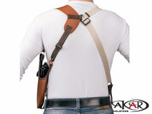"Load image into Gallery viewer, Vertical Shoulder Leather Holster for 1911 3""- 5"" - Choose your Color & Hand -"