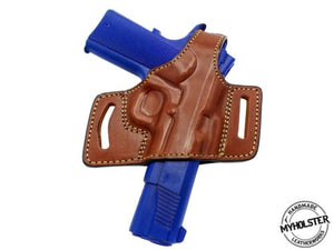 Springfield Armory TRP .45ACP OWB Quick Draw Leather Slide Holster W/Thumb-Break