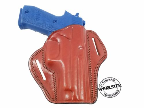 Sig Sauer P220 W/Rails Concealable Right Hand Leather Open Top Belt Holster