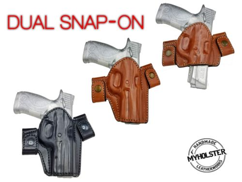Side Snap Leather Belt Right Hand Holster Fits Ruger SR9 - Pick your Style
