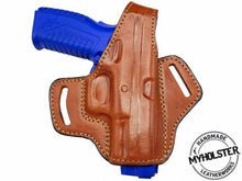 Springfield XDM 40 S&W 4.5 OWB Thumb Break Right Hand Leather Belt Holster