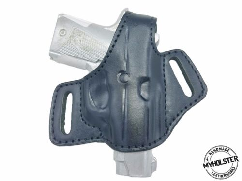 Kimber Micro 9 OWB Thumb Break Leather Belt Holster - Choose your Color -