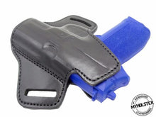 Premium Quality Black Open Top Pancake Style OWB Belt Holster, For Glock 19