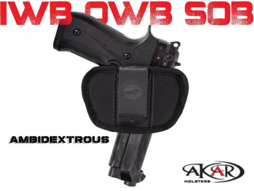 IWB OWB SOB Inside Outside Pants Clip-On/ Belt Slide Holster Fits GLOCK 42