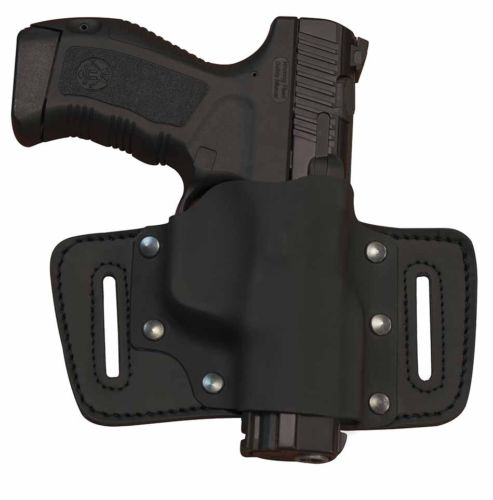 OWB Holster Right Hand Kydex and Cow Hide Black Fits GLOCK 17/19