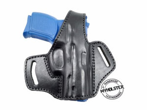 OWB Thumb Break Leather Belt Holster fits Smith & Wesson M&P Shield 9mm