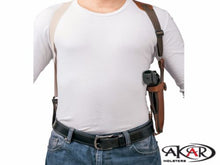 Vertical Shoulder Leather Holster Fits GLOCK 19 - Choose your Color & Hand -