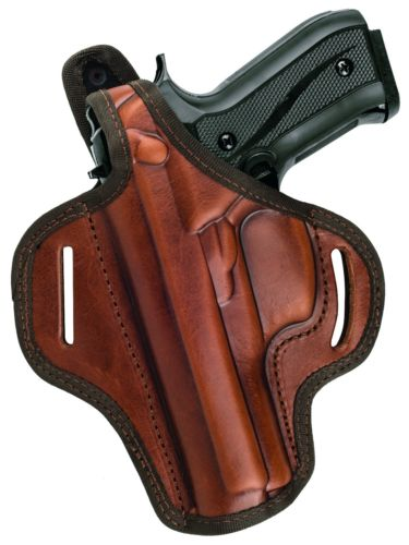 Right Hand Thumb Break Belt Leather Holster Fits GLOCK 19 Choose your color