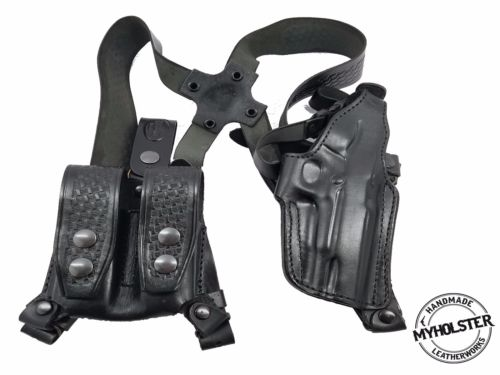 Shoulder Holster System with Double Mag Pouch for 1911 semi-autos , MyHolster
