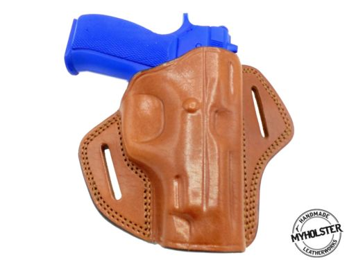Beretta 92FS Compact OWB Open Top Right Hand Leather Belt Holster