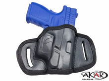 XD 40 Subcompact Right Hand OWB Open Top Quick Draw Belt Holster, Akar