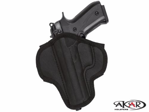 Springfield 1911 LEFT HAND Open Top Quick Draw Molded Nylon Belt Slide Holster