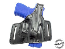Springfield XD9 OWB Pancake Style Thumb Break Belt Leather Holster