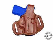 Load image into Gallery viewer, Kahr CM9 OWB Thumb Break Leather Belt Holster, MyHolster