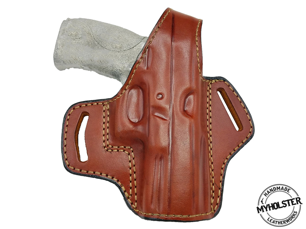 Smith & Wesson M&P 9 M2.0 OWB Thumb Break Right Hand Leather Belt Holster