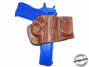 "COLT 1911 4""-5"" Belt Holster with Mag Pouch Leather Holster"