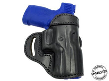 "Load image into Gallery viewer, Springfield EMP 1911 9mm 3"" Compact OWB Open Top Leather CROSS DRAW Holster"