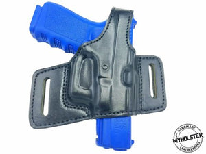 Kahr MK40 Right Hand Thumb Break Belt Leather Holster