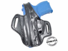 Load image into Gallery viewer, Tristar C-100 9mm OWB Thumb Break Leather Belt Holster
