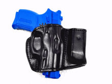 Black Belt Holster w/Mag Pouch Leather Holster Fits Glock 19- Choose your Hand-