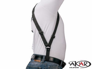 Glock 17/22/31 Vertical Carry Shoulder Holster Checkerboard Pattern