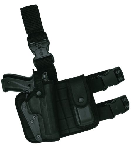 Tactical Pistol Gun Drop Leg Thigh Holster W/Magazine Pouch Right Hand - Large