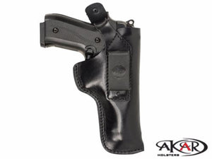 Dual Carry IWB / Belt Brown Leather Holster for Walther PPS, Akar