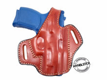OWB Thumb Break Leather Belt Holster Fits S&W Shield 9 with crimson laser