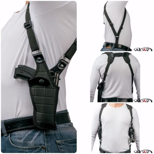Taurus Compact 9mm Vertical Carry Shoulder Holster Checkerboard Pattern